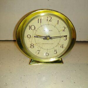 """Working Vintage Westclox Baby Ben Wind Up Alarm Clock 3.5"""" Diameter"""