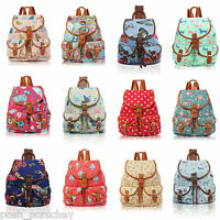 A4 Canvas Print Backpack Ladies Girls Bag Rucksack Travel Gym School College