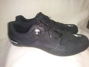 🚲Specialized Torch 2.0 Black 3 Bolt Road Shoes Size EU 45.5 US 11.75 BOA😃