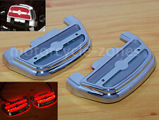 Led Light Passenger Footboard Floorboard Cover For Harley Touring Softail 84-up
