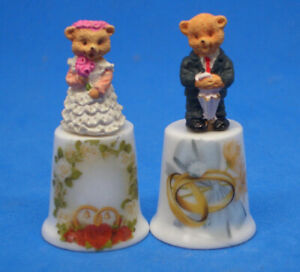 Birchcroft  Thimbles Pair -- Bride and Groom Models