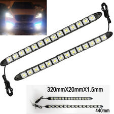 14 LED 6K White Waterproof Universal DRL Flexible Strip Turn Signal Light BM A V
