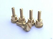 PrecisionGeek - KNURLED THUMB SCREWS BRASS M4 x 12mm HAND GRIP BOLTS (Set of 5)