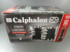 Calphalon Premier Hard Anodized Nonstick Space Saving cookware set 11-Piece USED