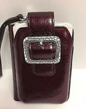 BRIGHTON NWT $70  Pebble Leather Phone Credit Card Case Wristlet METALLIC PLUM