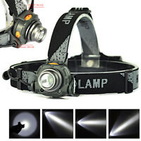 8000LM XPE LED Fishing Headlamp IR Sensor Head Torch Lamp 18650 Flashlight 1Mode