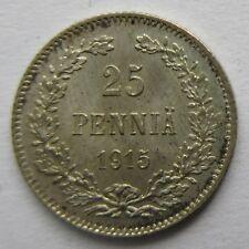 S0294 - Finnland 25 Penniä, 1915 S, Silber