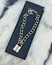 Forever Locked Up Choker Necklace Stainless Steel Padlock Chain Cashmere Studio