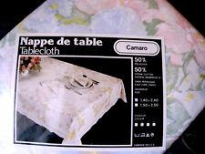 NAPPE RECTANGULAIRE CAMARO Vintage 140 X 240 Sans repassage COTON 50% - NEUVE