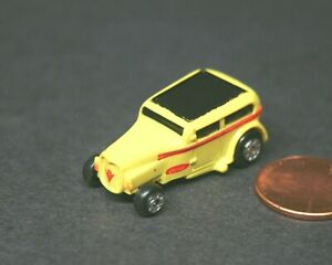 Micro Machines Ford Chopped Custom 1932 with Large Ford Logo Yellow Galoob LGTI