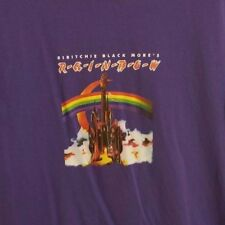 Ritchie Blackmores Rainbow Rock Band wierd shirt possible miss print mens size L