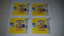 Lot Of 4 1986 Topps Garbage Pail Kids 4th Series Wax Pack Wrappers