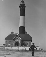 Fire Island Light lighthouse and keeper's son Long Island 1952 - New 8x10 Photo