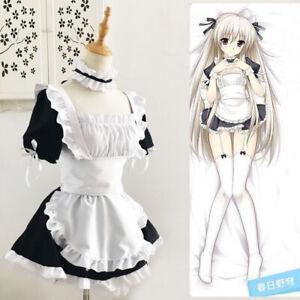 Akihabara Classic Cafe Black White Lolita Maid Dress Suit Cosplay Anime Costume
