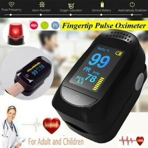 Fingertip Pulse Oximeter Blood Oxygen Saturation SpO2 Finger Heart Rate Monitor#