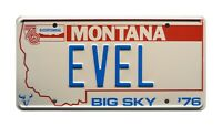 Viva Knievel | Cadillac Mirage | 76 EVEL | Metal Stamped Replica License Plate