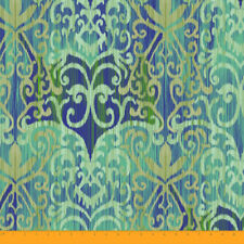 60 Inches Wide Green Geometric 2-Way Stretch Velvet Fabric Material 180 GSM