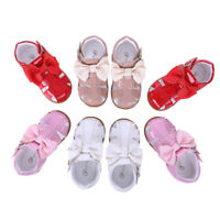 Girls Summer Spanish Bow Sandals Toddler Kids Flat Shoes Wedding Party Casual