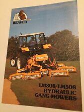 HAYTER Beaver Equipment Hydraulic Gang Mowers Original 1980s Vintage Brochure