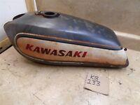 Kawasaki 500 TRIPLE H1-E Rusted Out Gas Fuel Tank 1974 KB133 WD