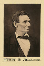 ABRAHAM LINCOLN 1860 Pre-Presidential Photo A++ Cabinet Card CDV