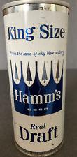 Hamms Beer Real Draft King Size 1960'S 16Oz Half Quart Pull Tab Beer Can St Paul