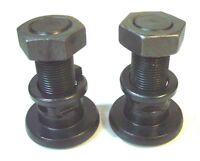 "Blade Bolts 2 Square Shoulder Brush Hog Rotary Cutter 1-1/8"" Nut & Lock Washer"