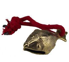 Goldene Glocke Naga Fisch Handglocke an Schnurr guter Klang Bronze