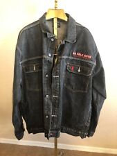 Vintage US Polo Assn. Black Denim Jacket Mens XL