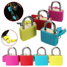 Heavy Duty 4pc Padlocks Small Coloured Bras Travel Luggage Bag Suitcase Lock Set