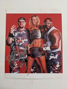Dudley Boyz Bubba Ray Devon Signed Autographed 8x10 Photograph Stacy Keibler WWE