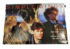 """Simple Minds Street Fighting Years Band Poster 1989 36""""x24"""" 2 sided poster"""
