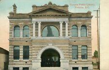 Canada Victoria BC - Public Library old postcard