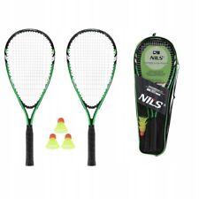 Badminton Set NILS für Einsteiger, grün/schwarz