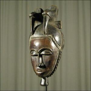 59955) Afrikanische Holz Maske Yohure Elfenb.-küste Afrika KUNST
