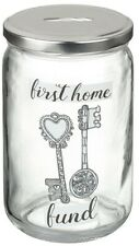 Wedding First Home Glass Saving Jar Adventure Fund Piggy Bank Money Box Tin