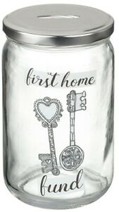 Wedding First Home Glass Saving Jar Adventure Fund Piggy Bank Money Box Tin