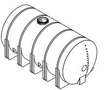 5025 Gallon Poly Plastic Water Storage Leg Tank Tanks