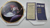 Star Trek The Voyagers USS Enterprise NCC-1701 Plate Hamilton Collection 4809 I