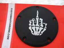 HARLEY DERBY COVER ( MIDDLE FINGER - l)  TOURING, SOFTAIL, & WRINKLE, CUSTOM