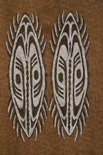 Rare Tapa Maro Sentani Bark Cloth Abstract Water Bugs Authentic Tribal Art 44 -