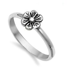.925 Sterling Silver Ring size 5 Rose Flower Midi Kids Ladies Knuckle New p76