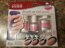 Kiss  Brush on gel nail kit.  48 short length tips.