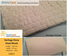 Model Railway Heritage stone walling casting mould - OO Scale - CM47