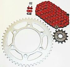 1993-2013 HONDA XR650L 650 L RED O RING CHAIN AND SPROCKET 14/48 114L