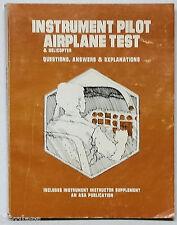 Instrument Pilot Airplane Test Book ASA 1979 Sturcy Aircraft