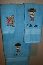 Woody Cowboy Personalized 3 Piece Bath Towel Set Toy Story Woody Any Color