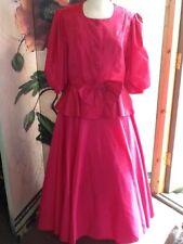 Vintage pink suit skirt ad top size 12/14 Jean Allen London