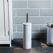 Toilet Brush Holder White Bathroom Cleaning Brush Free Standing By Home Discount