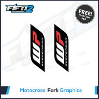 WP Suspension Road Bike upper Fork Decals Stickers Graphics Road Race Track Day